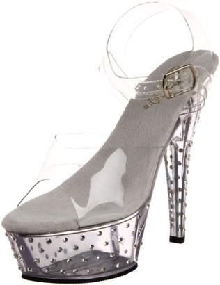 Pleaser USA Women's Stardust-608/C/M Ankle-Strap Sandal