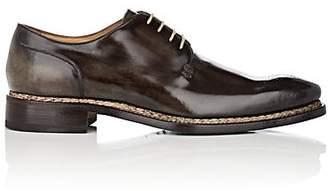 Harris Men's Burnished Leather Bluchers - Dk. Green