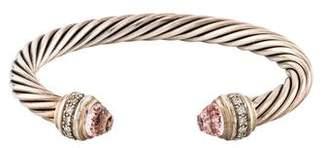 David Yurman Morganite & Diamond Cable Classics Cuff