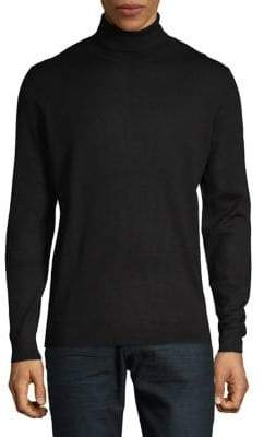 Black Brown 1826 Merino Wool Turtleneck Sweater