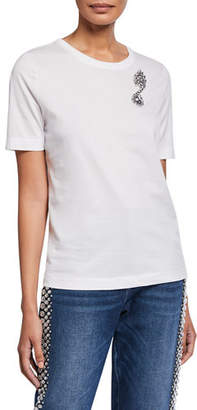 Escada Ellmin Rhinestone Music-Note Cotton Tee