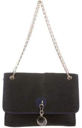 Stella McCartney Woven Raffia Flap Bag