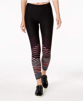 Calvin Klein Striped High-Waist Ankle Leggings