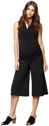 A Pea in the Pod Under Belly Ponte Wide Leg Maternity Pants