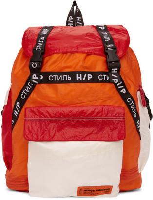 Heron Preston SSENSE Exclusive Orange JUMP Backpack