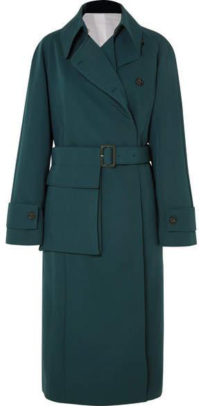 Stafford Oversized Wool-gabardine Coat - Green