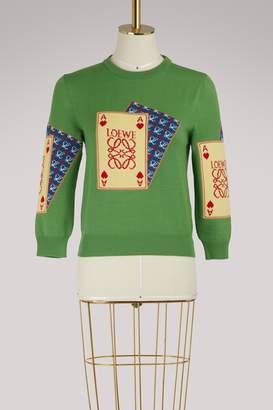 Loewe Playing Cards sweater