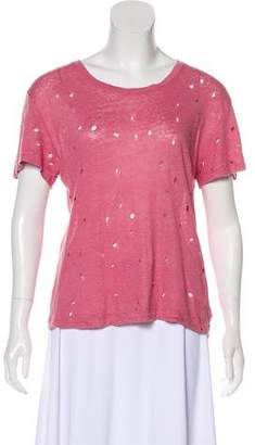 IRO Linen Distressed Top