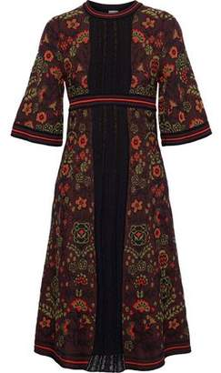 M Missoni Lace-Paneled Jacquard Cotton-Blend Dress