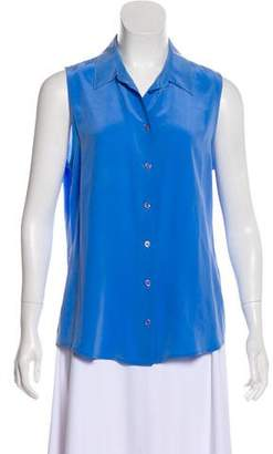 Equipment Sleeveless Silk Top
