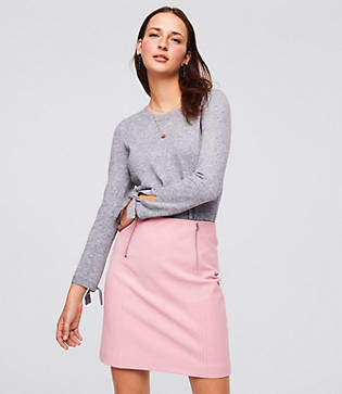 LOFT Petite Double Zip Bi-Stretch Skirt