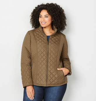 Avenue Knit Side Quilted Jacket