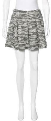 Alice + Olivia Tweed Pleated Skirt