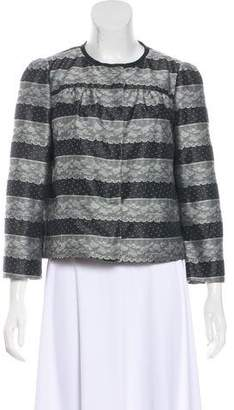 RED Valentino Lace Cropped Jacket