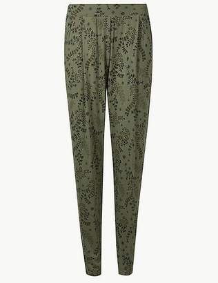 Marks and Spencer Jersey Tapered Peg Trousers