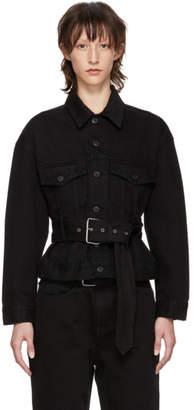 Proenza Schouler Black PSWL Denim Belted Jacket