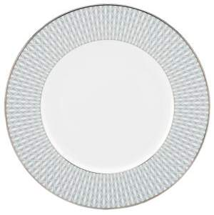 Kate Spade Mercer Drive Dinner Platinum-Accented Bone China Plate