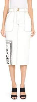 Versace New Millenials Denim Skirt