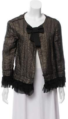 Dolce & Gabbana Metallic Bow-Accented Jacket