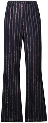 Mes Demoiselles stripe print flared trousers