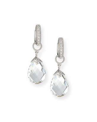 Jude Frances 18K White Gold Briolette Earring Charms $490 thestylecure.com
