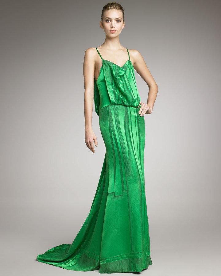 Carolina Herrera Draped Silk Gown