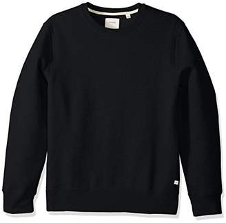 Billy Reid Men's Pullover Dover Crew Sweatshirt with Leather Elbow Patches