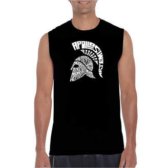 LOS ANGELES POP ART Los Angeles Spartan Sleeveless Word Art T-Shirt- Men's Big and Tall