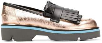 Pollini fringed loafers