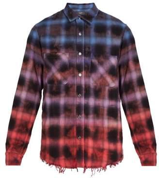 Amiri Ombre Plaid Cotton Shirt - Mens - Multi