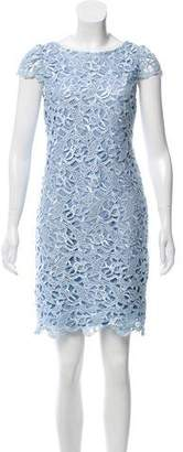 Alice + Olivia Embroidered Lace Mini Dress w/ Tags