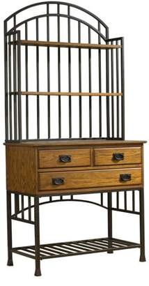 Homestyles Home Styles Oak Hill Distressed Oak Bakers Rack
