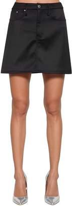Calvin Klein Jeans (カルバン クライン ジーンズ) - CALVIN KLEIN JEANS サテン ミニスカート