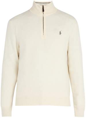 Polo Ralph Lauren Half-zip wool-blend sweater