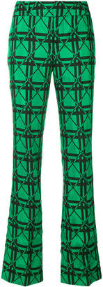 graphic jacquard trousers