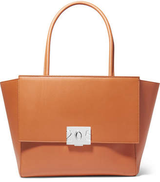 Calvin Klein Bonnie Large Grosgrain-trimmed Leather Tote
