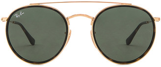Ray-Ban Double Bridge Sunglasses in Gold & Green | FWRD