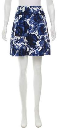 Milly Abstract Print Mini Skirt w/ Tags