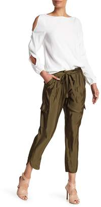 Ramy Brook Allyn Tapered Satin Pants