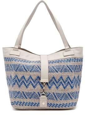 Helen Kaminski Freja Leather Trimmed Shoulder Bag