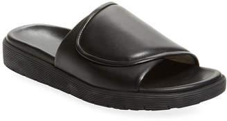 Helmut Lang Leather Foldover Slip-On Sandal