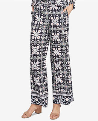 Rachel Roy Printed Wide-Leg Pants, Created for Macy's