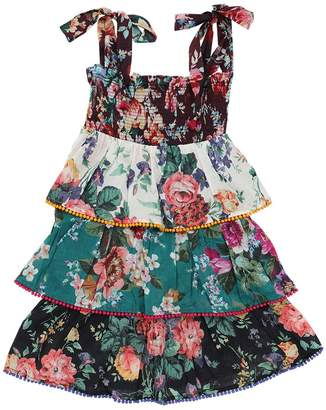 Zimmermann Allia Floral Print Cotton Dress