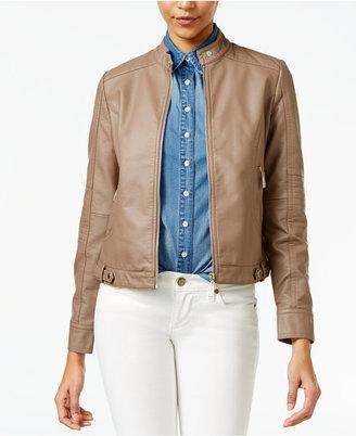 Jou Jou Faux-Leather Jacket $69.50 thestylecure.com