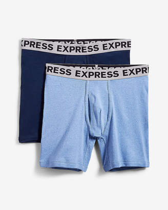 Express 2 Pack Ribbed Cotton Boxer Briefs