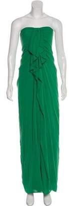 3.1 Phillip Lim Strapless Silk Evening Gown