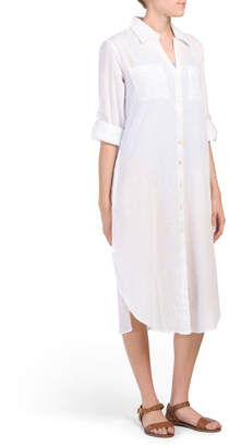 29ce0c5cea White Button Up Cover Up - ShopStyle