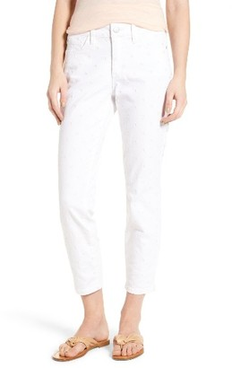 Women's Nydj Alina Embroidered Ankle Slim Leg Jeans $144 thestylecure.com