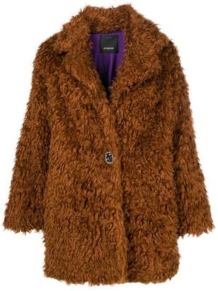 Pinko oversized faux fur coat