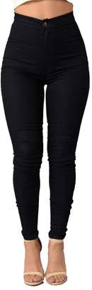 Jotebriyo Womens Jegging Sexy High Waisted Pure Color Pencil Leggings M